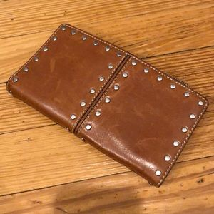 MK genuine leather wallet